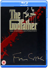 THE GODFATHER COPPOLA RESTORATION 4-DISC COLLECTION BLU-RAY PART I II III REGION