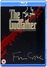 THE GODFATHER COPPOLA RESTORATION 4-DISC COLLECTION BLU-RAY PART I II III REGION
