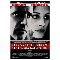 Conspiracy Theory Poster Movie 27 x 40 In - 69cm x 102cm Terry Alexander Mel Gibson Julia Roberts Patrick Stewart Cylk Cozart
