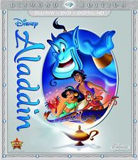Disney's ALADDIN (2015) 2 Disc Blu-Ray DVD NEW Fast Free Shipping