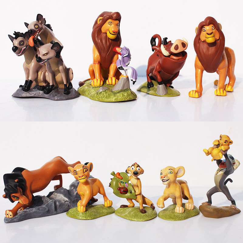 9pcs/Set The Lion King Simba Nala Timon Model Figure PVC Action Figures Classic Toys Best Christmas Gifts Free Shipping