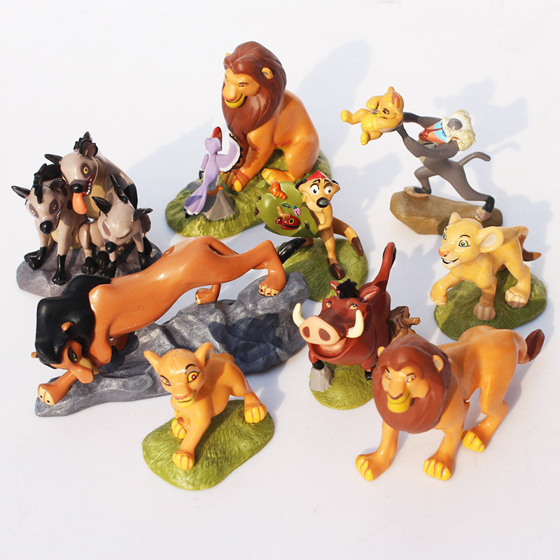 9pcs/Set The Lion King Simba Nala Timon PVC Action Figures Classic Model Toys Best Christmas Gifts Free Shipping