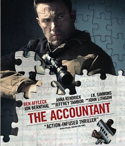 """""""ACCOUNTANT"""" Ben Affleck Anna Kendrick DVD Disc Only-SHIPS on/around 1/10/17"""