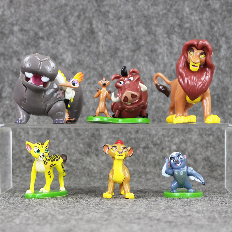 High quality 6pcs/lot The Lion King Simba Nala Timon Model Figurine PVC Action Figure Toy