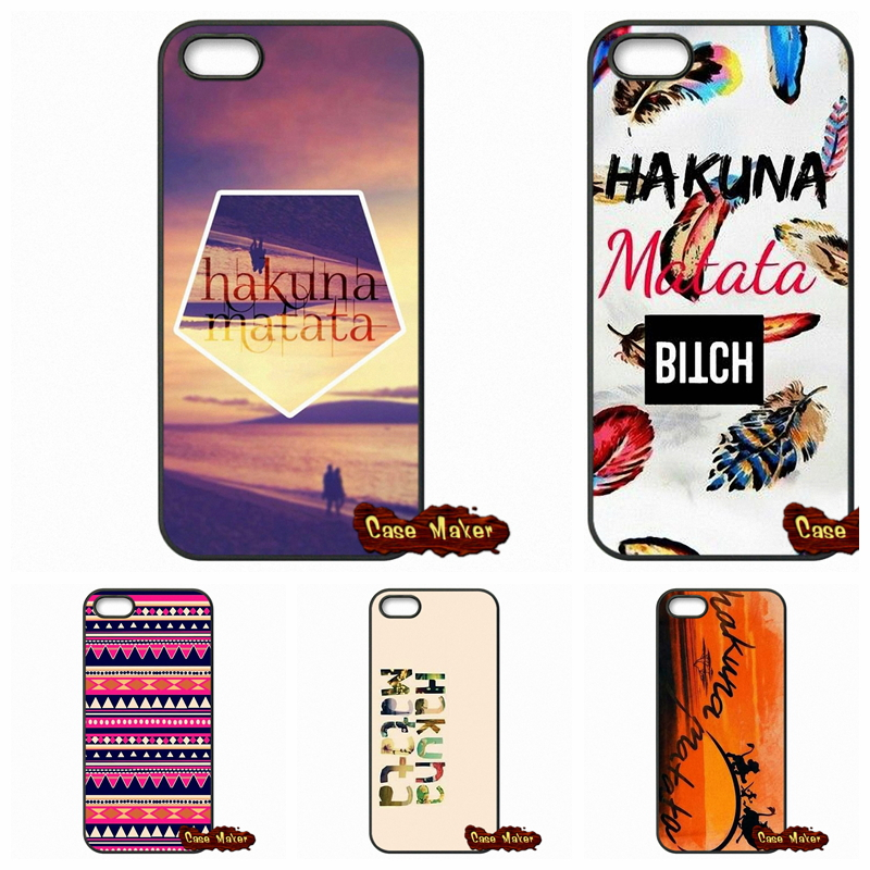 Lion King Hakuna Matata Plastic Black Cover Case For Samsung Note 2 3 4 5 Galaxy S S2 S3 S4 S5 MINI S6 S7 edge Plus