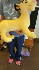"SIMBA 33""L nose to end of tail - PLUSH -The Lion King Disney - 2002 - Hasbro"