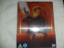 The Lion King (Blu Ray/ 3D) Steelbook Lenticular Zavvi Exclusive Disney Reg Free