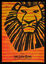 THE LION KING WEST END SOUVENIR PROGRAM * JULIE TAYMOR