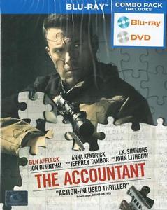 The Accountant , Ben Affleck, Anna Kendrick (Blu Ray+DVD) (Combo) Region A **