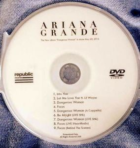 Ariana Grande DVD Dangerous Woman FOCUS Into You Let Me Love You + LIVE no cd
