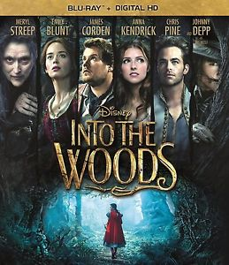 INTO THE WOODS BLU-RAY - SINGLE DISC EDITION - NEW UNOPENED - ANNA KENDRICK