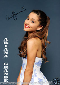 ARIANA GRANDE STUNNING PORTRAIT SIGNED 6x4 PHOTO PRINT AUTOGRAPH MUSIC