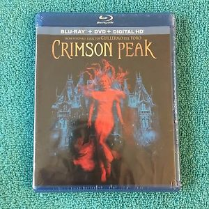 Crimson Peak (Blu-ray/DVD, 2016, 2-Disc Set) Brand New, Damaged/Bent Case