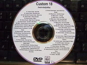 CUSTOM MIX VOL 18 MUSIC VIDEO DVD ARIANA GRANDE MILEY CIRUS JESSICA SUTTA