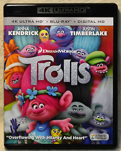 Dreamworks Trolls Anna Kendrick Justin Timberlake 4K Ultra HD Blu Ray No Digital
