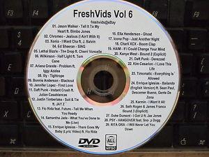 FRESHVIDS VOL 6 MUSIC VIDEO DVD ED SHEERAN ARIANA GRANDE IGGY AZALEA CHARLI PSY