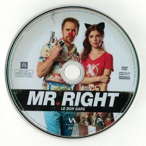Mr. Right (DVD disc) Sam Rockwell, Anna Kendrick NEW