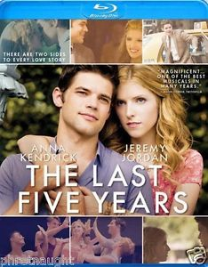 THE LAST FIVE YEARS BLU-RAY - ANNA KENDRICK - JEREMY JORDAN