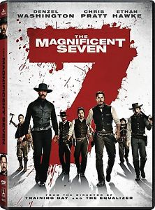 The Magnificent Seven Movie DVD Remake with Denzel Washington/Chr