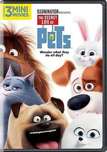 The Secret Life of Pets DVD 2016 Comedy, Animation - w/ 3 Mini Movies