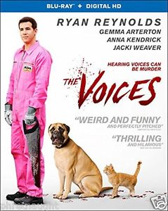 THE VOICES BLU-RAY - RYAN REYNOLDS - ANNA KENDRICK - AUTHENTIC US RELEASE