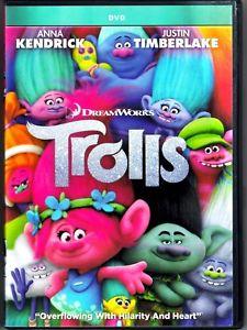 Trolls DVD Movie, Anna Kendrick (2016) Animation, Adventure, ship now