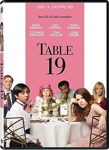 TABLE 19 DVD - ANNA KENDRICK - CRAIG ROBINSON - LISA KUDROW