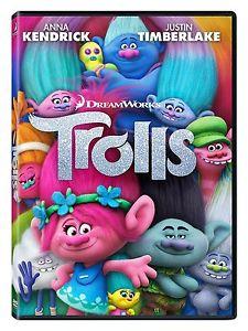 Trolls (DVD 2017) INCLUDES SLIPCOVER Dreamworks Anna Kendrick/Justi