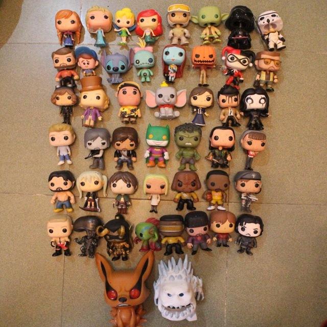 Imperfect Funko POP TV: Star Trek, Kobe, Game of thrones, Naruto, Wow, Boxer, Horror Movie Series Loose Figure Toy No box
