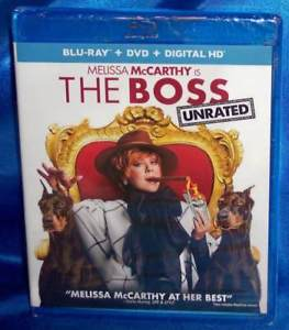 NEW MELISSA MCCARTHY THE BOSS UNRATED BLU RAY & DVD & DIGITAL COMEDY MOVIE 2016