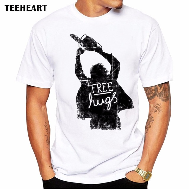 2017 Hot Sale Saws Free Hug Men T Shirt Novelty Short Sleeve Tee Horror Movie Printed Cool Summer Shirts La690