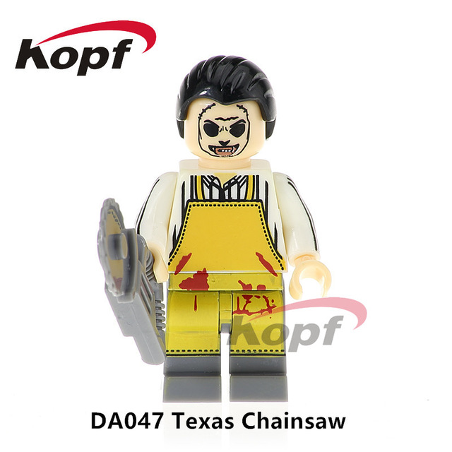 Single Sale Texas Chainsaw Horror Movie Massacre TV Shows Dexter Morgan Scary Mask Building Blocks Best Children Gift Toys DA047