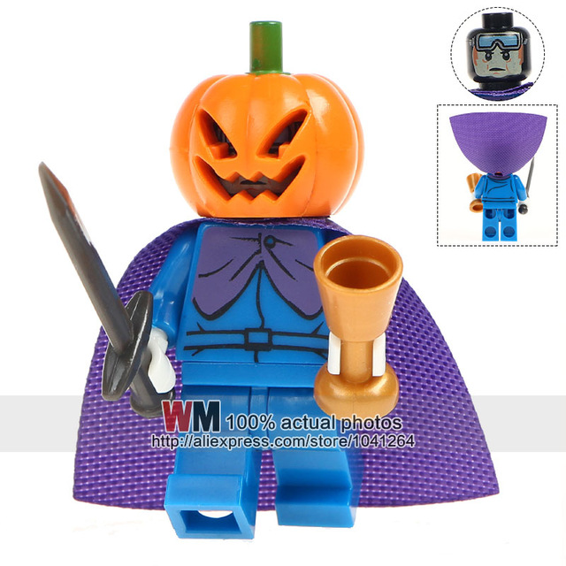 Single Sale Halloween Horror Movie Queen Akasha Jack Skellington Jeepers Pumpkin Man Building Blocks Children Gift Toys PG8080