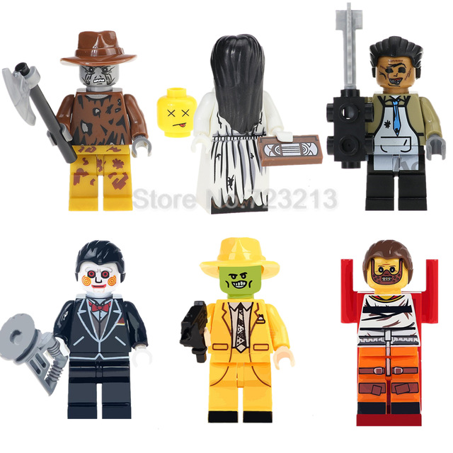 Single Sale Horror Movie The Ring Figure Set Billy Freedy Jeepers Creepers Leatherface Comedy Building Blocks kits bricks Toys
