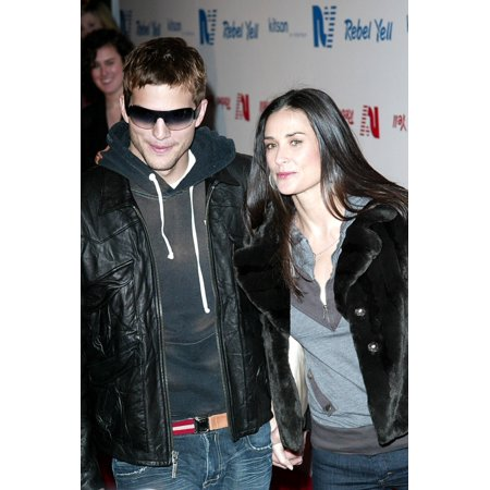Ashton Kutcher And Demi Moore At Arrivals For Rebel Yell Clothing Launch Party Kitson Los Angeles Ca February 19 2006 Photo By Jeremy MontemagniEverett Collection Celebrity