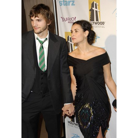 Ashton Kutcher Demi Moore At Arrivals For Hollywood Film Festival 10Th Annual Hollywood Awards The Beverly Hilton Hotel Beverly Hills Ca October 23 2006 Photo By Michael GermanaEverett Collection Cele