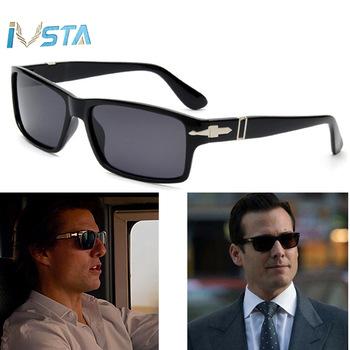 IVSTA Polarized Sunglasses Men Square Glasses Trendy Driving Mission Impossible4 Tom Cruise James Bond Luxury Brand Designer Hot