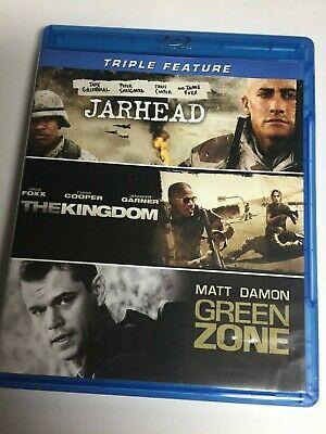 Jarhead/The Kingdom/Green Zone (Blu-ray,2012,3-Disc Set) Not a Scratch! USA!