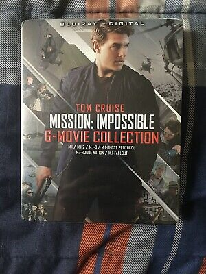 Mission: Impossible - 6 Movie Collection Blu-ray + Digital BRAND NEW Tom Cruise