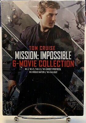 Mission: Impossible 6 Movie Collection DVD Tom Cruise M:1 - M:1-Fallout NEW!