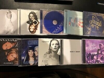 Taylor Swift Cher Paula Abdul Carly Rae Jepsen Dan + Shay CD Lot