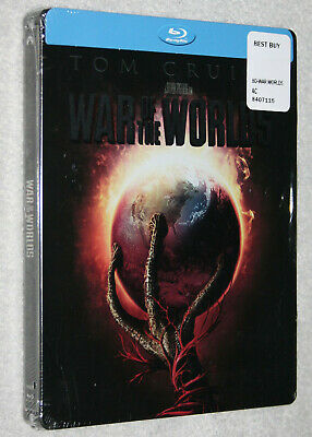WAR OF THE WORLDS TOM CRUISE RARE OOP HTF BLU-RAY DISC STEELBOOK BEST BUY NEW
